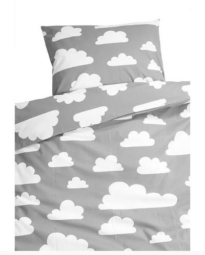 Grey & White Clouds duvet set from This Modern Life