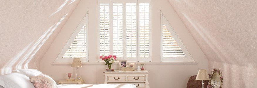 white teak hardwood shutters from Hillarys