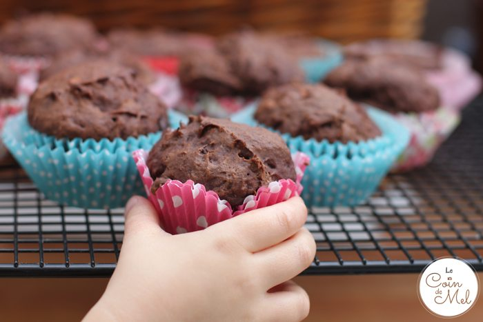Vegan, Dairy Free, Egg Free, Nut Free Banana and Chocolate Muffins - with Cocoa Powder