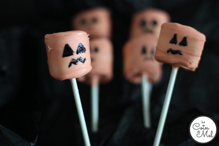 Spooky Marshmallow Pumpkins