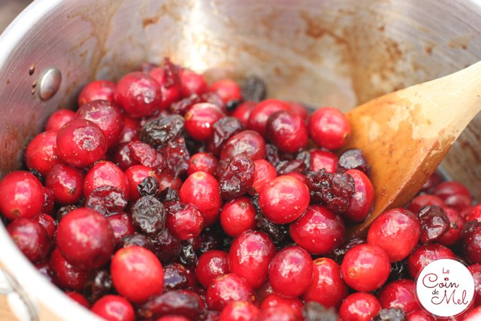 Cranberry Mincemeat - Simmering