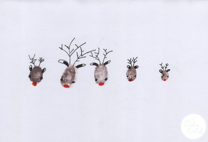 Thumbprint Art - Reindeers