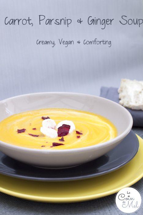 Carrot, Parsnip & Ginger Soup - Creamy, Vegan, Comforting