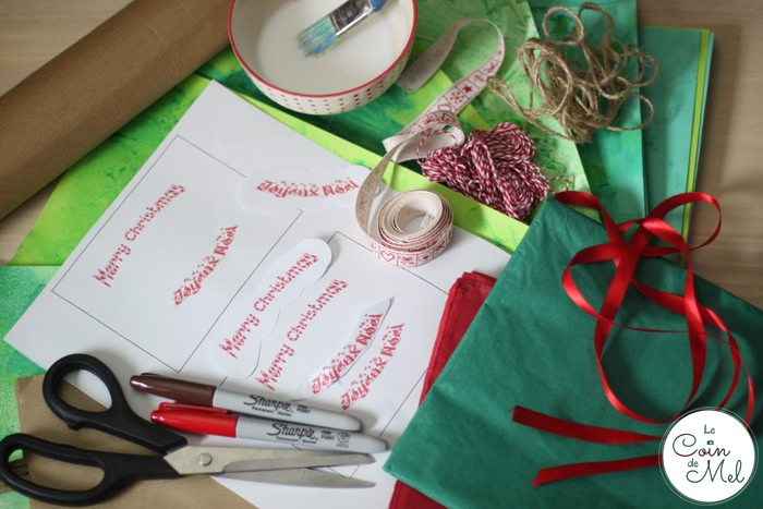 Christmas Tree Bags for Homemade presents - What you Need