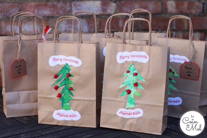 Christmas Tree Bags for Homemade presents
