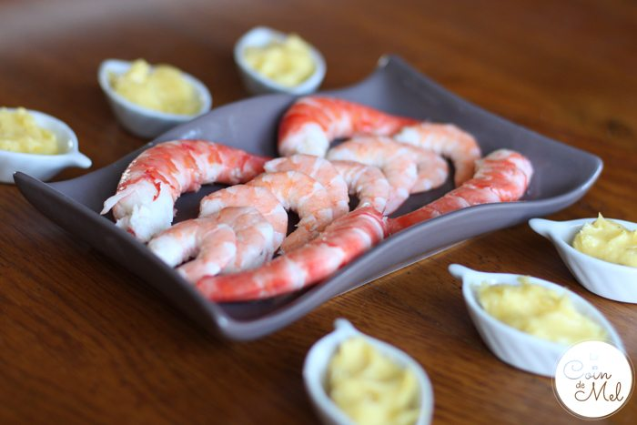 King Prawns and Homemade Mayonnaise - a Really Easy Starter