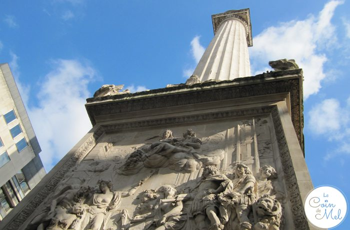 London - The Monument to Commemorate the Great Fire of London 1666