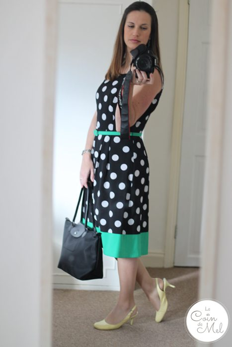 Me and Dresses... Polka Dots, Yellow & Green