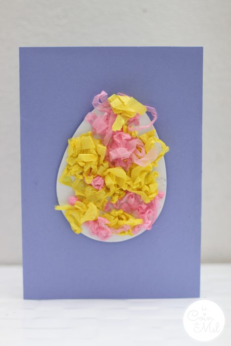 Quick & Easy Spring Crafts - Tissue Paper Easter Egg Cards