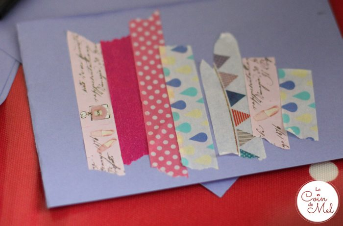 Washi Tape Cards - Sticking the Tape onto Card - No need to be Precise