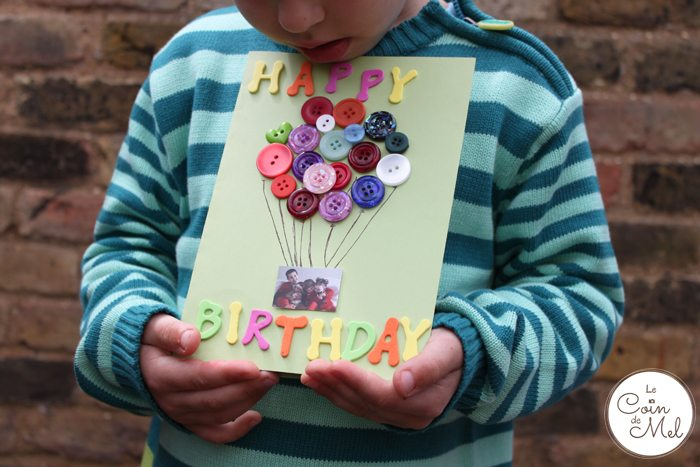 10 Minute Crafts – A Thoughtful but Quick Card Using a Photo and Buttons - so pretty!
