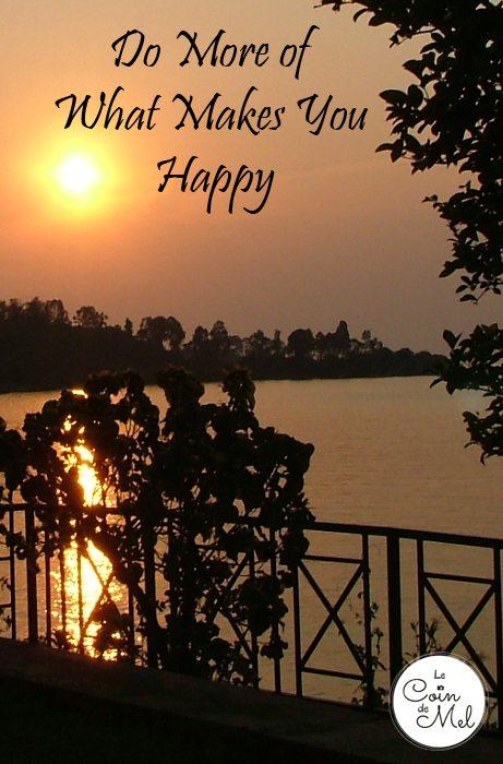 Do More of What Makes You Hapy - Sunset on Lake Kivu, Rwanda