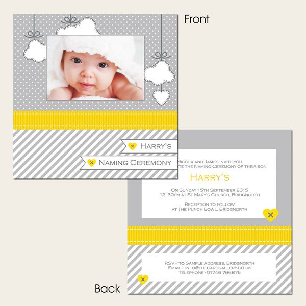 The Card Gallery Template - Grey-&-Yellow-Cloud-Use-Your-Own-Photo-Naming-Ceremony