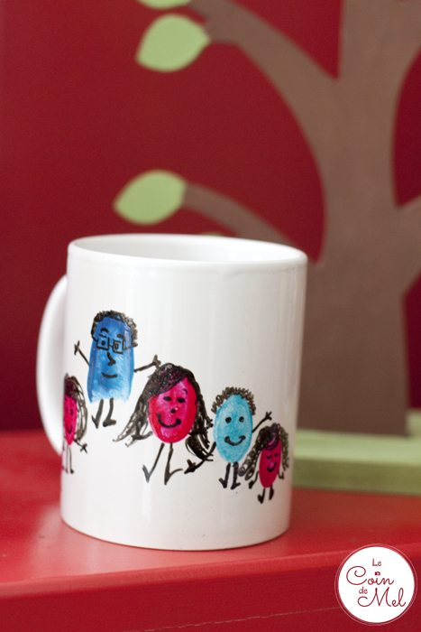 10-Minute Crafts - Make your Very Own Cheap Customised Mugs - Fingerpint Family