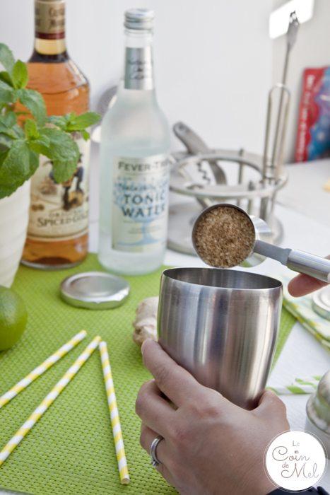 Mash up a Mojito with a Hint of Ginger - Sugar Syrup