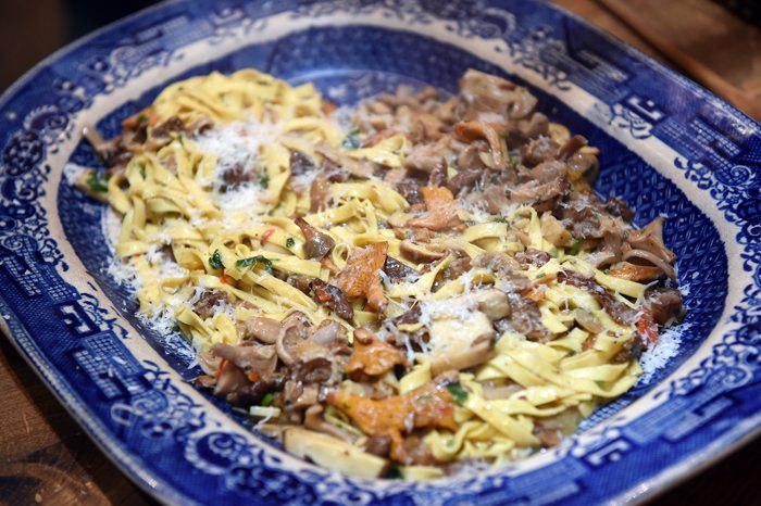 tagliatelle with wild mushrooms