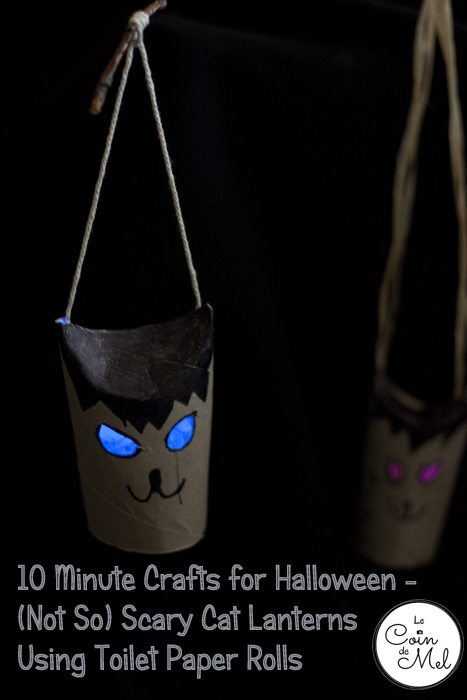 10 Minute Crafts - Not So Scary Cat Lanterns Using Toilet Paper Rolls - He & She