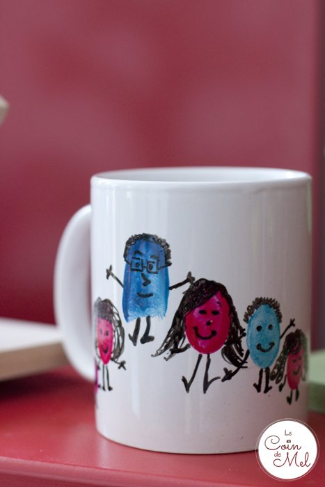 My Dream Craft Room - Quick & Easy Thumbprint Art on a Mug
