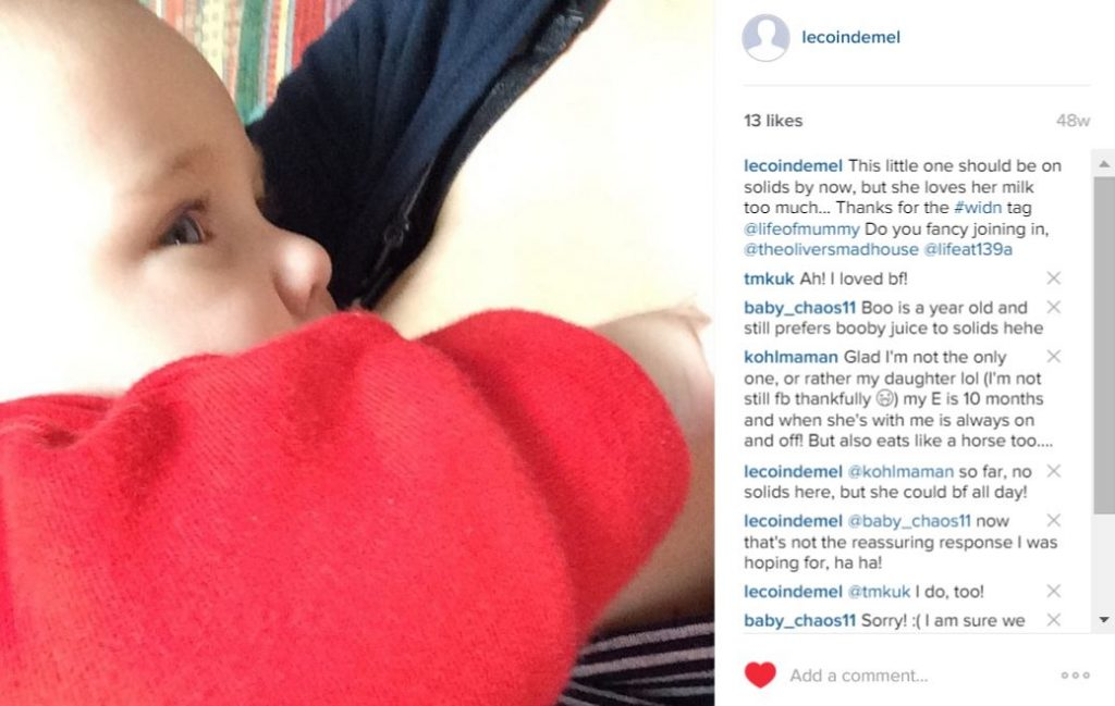 Instagram - determined to have breast milk only