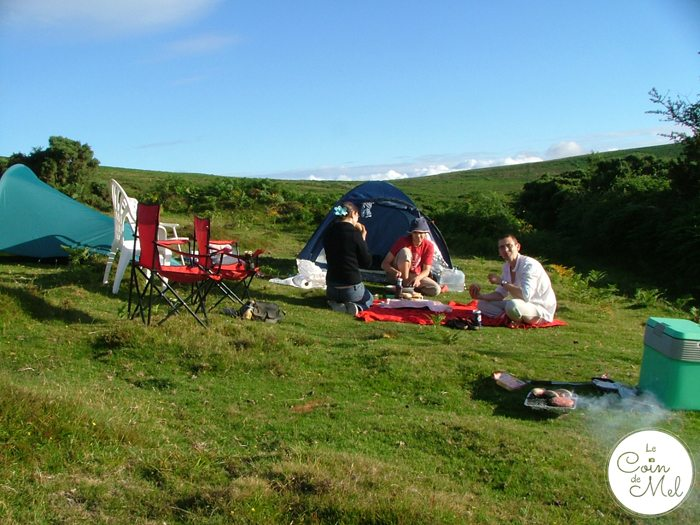 Camping, Disposable Barbecues and Bacon Sandwiches in Devon