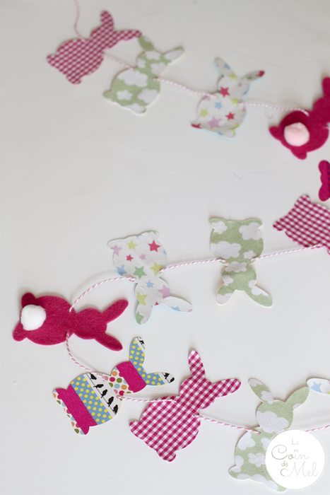 Funky Bunny Garland for Easter - Our Pretty Garland