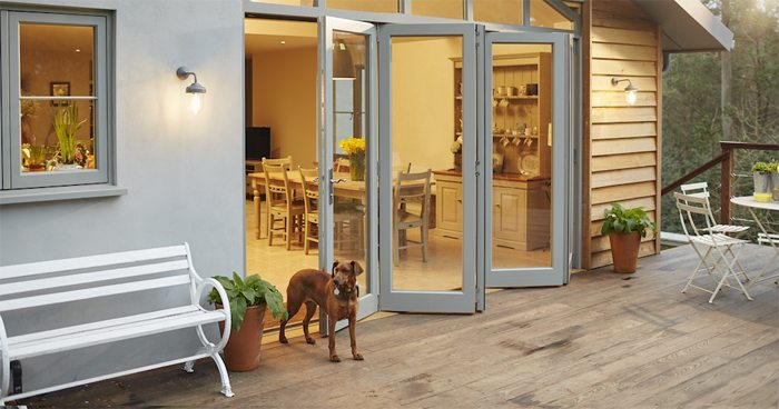 Dreaming of a Kitchen Makeover - Bi-folding wooden doors