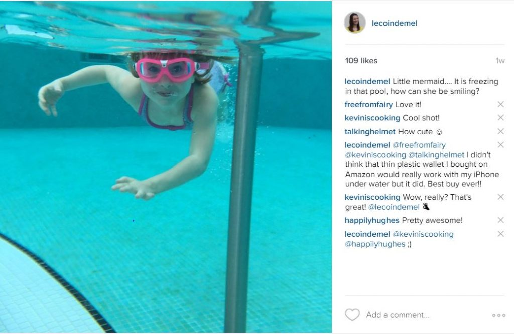 Instagram under water