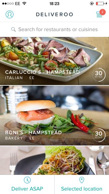 Deliveroo Hampstead