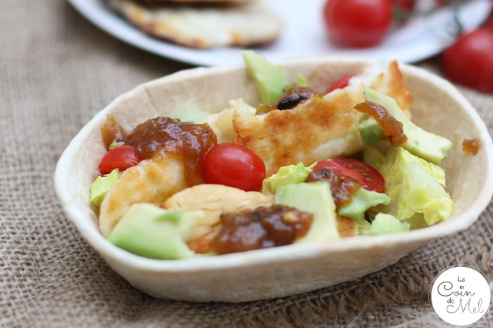 Mango Chutney & Halloumi with salad in a Soft Taco