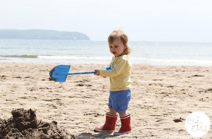 Bigbury Devon Beach - Digging