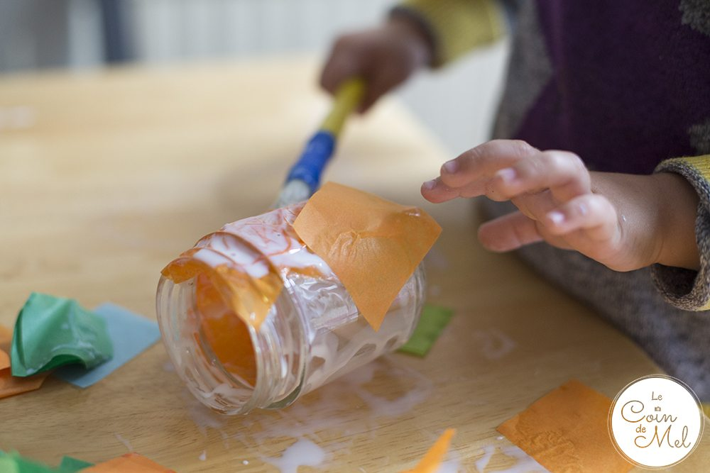 quick-easy-upcycled-halloween-lanterns-tissue-paper-glue