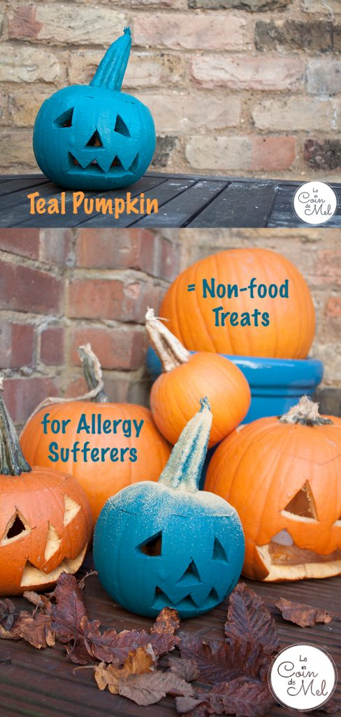 Display a Teal Pumpkin to Welcome Allergy Sufferers on Halloween