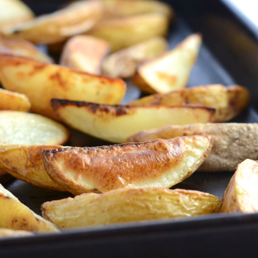 Charlotte's potato wedges - an allergy-friendly buffet food recipe