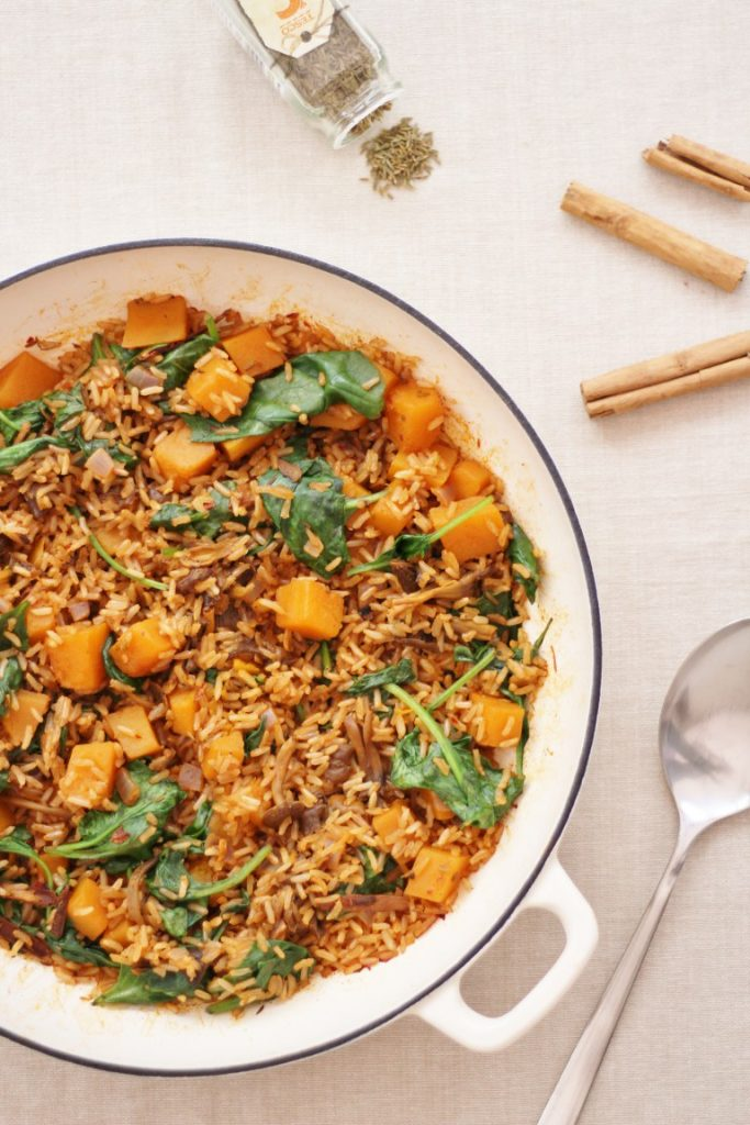 Allergy-friendly recipes - Eb's wild mushroom squash pilaf