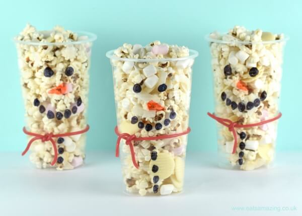 Allergy-friendly recipes - snowman snack cups recipe on Le Coin de Mel