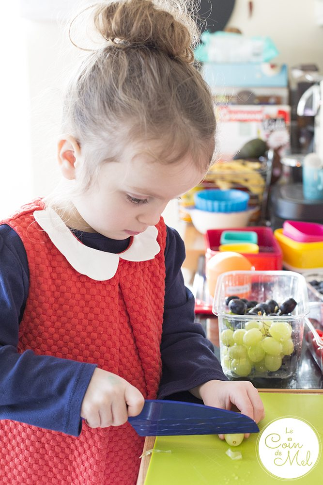 Children can be confident in the kitchen from a very young age provided they find the cooking process fun and they are trusted. They can chop, grate, stir, peel and even follow a simple recipe.