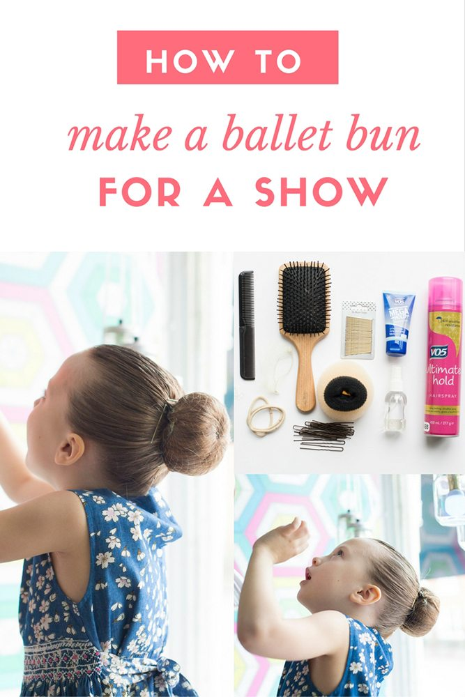 How to Make the Perfect Ballet Bun for a Show - instructions and video