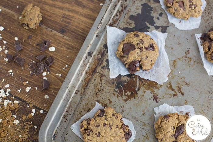 Easy gluten-free vegan cookies on a baking tray