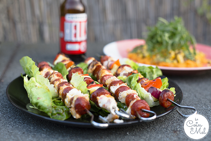 What do you normally have for a BBQ? Sausages? Burgers? These Chorizo & Cod Kebabs are colourful, full of flavours, laden with veg and allergy-friendly.