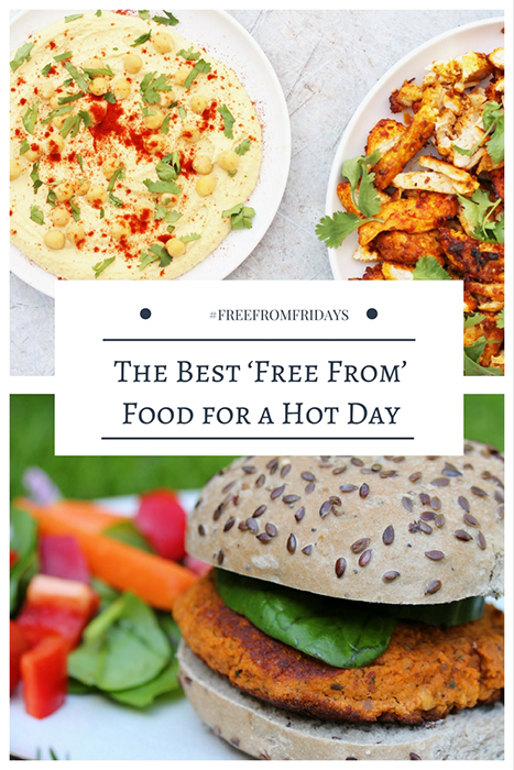 Food for a hot day tends to be salads, ice ream and fruit, right? Now if you want ideas of good, allergy-friendly wholesome food, look no further!