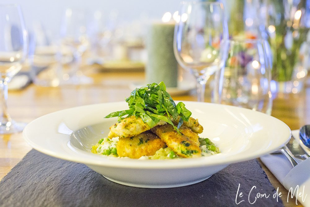 Gremolata Chicken with Pea Risotto & Lemon Spinach
