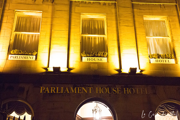 Parliament House Hotel in Edinburgh & MP's Bistro: a well-hidden gem in the heart of the Scottish capital, with lots of character and friendly staff