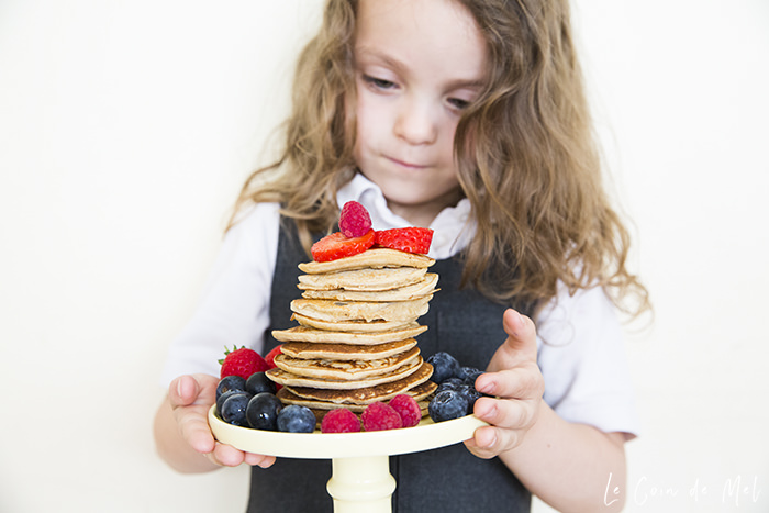 Our 3-Ingredient Gluten-free Vegan Pancakes are delicious, quick and easy to make, with 2 steps only: blend all ingredients together and cook the pancakes.