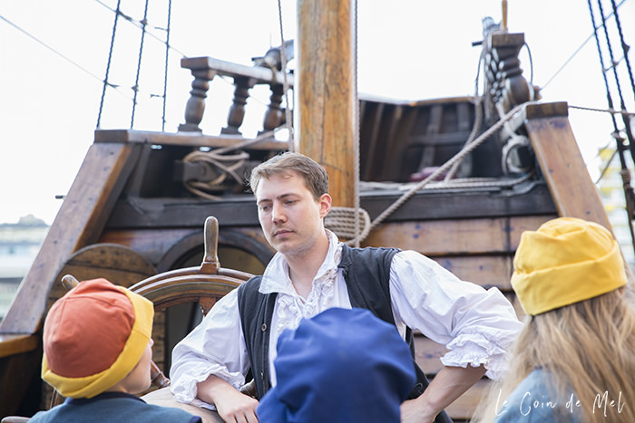 The sleepover on the Golden Hinde, moored in a dry dock on the Thames by the buzzy Borough Market, is a wonderful experience for children and adults alike. The actors set the stage for a wonderful experience and make everyone feel at home...