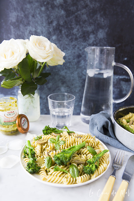 This speedy Gluten-free Vegan Pesto Pasta is my mid-week secret weapon: it's quick and easy to make, everyone loves it and it's healthy!
