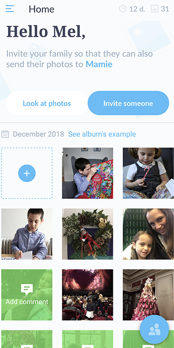 Neveo is a family journal printed and delivered to your chosen recipient by post every month. It's a lovely photo diary you can put together effortlessly.