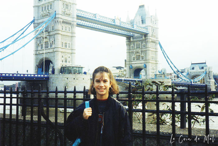 That's me in 1993 in front of Tower Bridge.