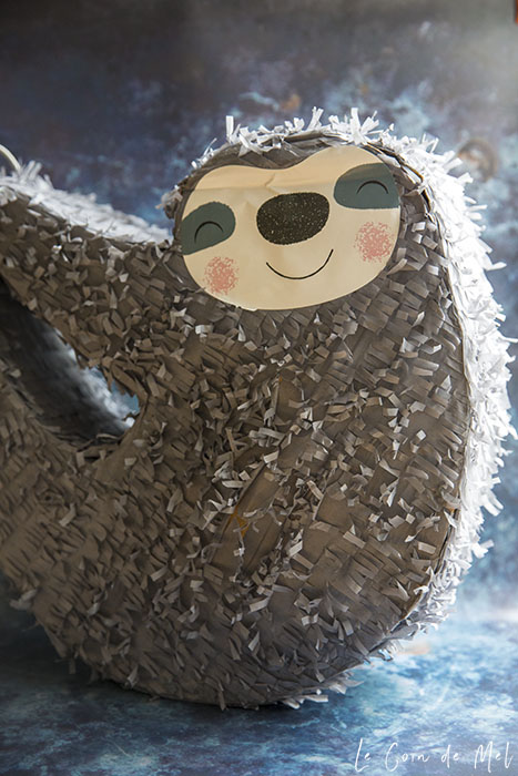 A sloth piñata for the birthday girl