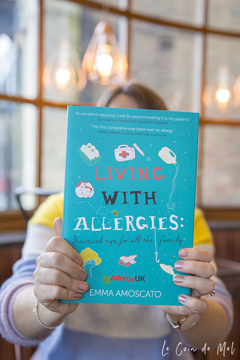 This is a photo of Emma holding her book on the day I went to take some promo shots for her. Click for a review of Living with Allergies: Practical Tips for All the Family by Emma Amoscato, which answers questions like Why are allergies on the rise?
