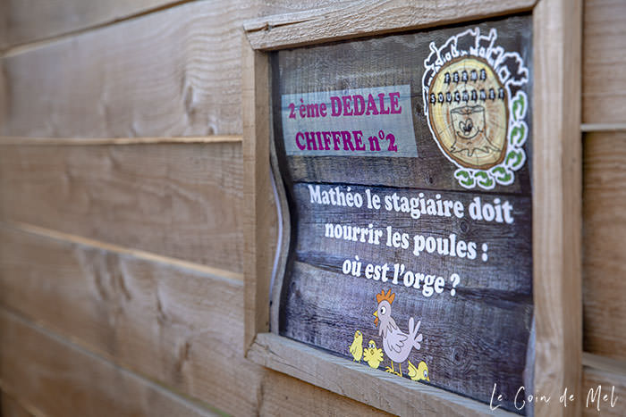One of the questions in the maze at La Ferme Souchinet